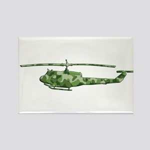 Huey Helicopter Rectangle Magnet
